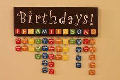 Wooden birthday board with your own customized by BoardsbyBecca