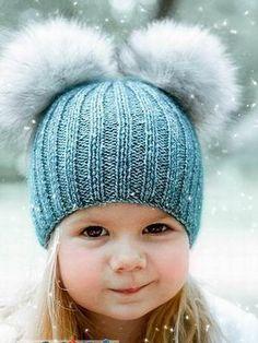 Детские шапки для зимы 2016: фото стильных детских шапок (вязаных и меховых)