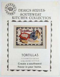 Tortillas Vintage Southwest Cross Stitch Pattern by by wiggelhevin, $3.99