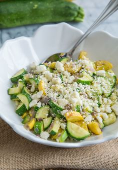 Recipe: Sautéed Zucchini and Squash with Thyme and Feta — Side Dish Recipes from The Kitchn