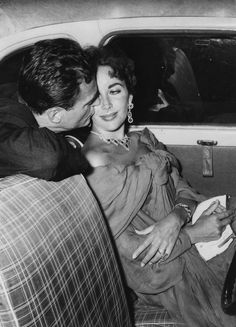 Elizabeth Taylor With her third husband, Mike Todd, in 1955.    - ELLE.com...
