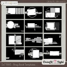 Something To Brag About X Mini Album Templates By Chrissyw  Two
