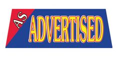 AS ADVERTISED Car Dealer Windshield banner sign - Click Image to Close
