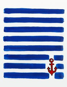 New nice & free nautical printable poster by Laurence R.  Love these colors