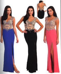 Prom Dresses Evening Dresses under $200<BR>8923<BR>Illusion V neckline bodice fully covered with design of bead work and stones