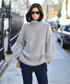 Knit by & Other Stories, trousers by Stella McCartney , shoes by Aquazzura bag by Céline, Ray Ban's , Tag Heuer watch.