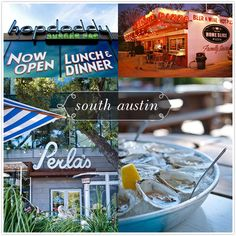 Hopdoddy, Home Slice Pizza, Vespalo & Enoteca, and Peria's Seafood & Oyster Bar. Delicious!