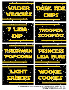 May the 4th Be with You Ideas and Free Food Printables   Over The Big Moon