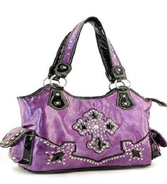 Purple Cross With Rhinestones Handbag  #HBM #Hobo