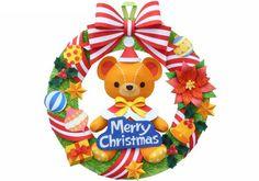 CHRISTMAS TEDDY BEAR WREATH CLIP ART