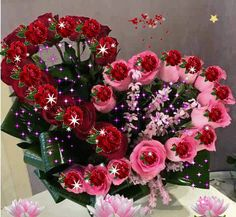 To my dear sister,always in my heart♡♡♡. Flowers Gif, Love Flowers, Happy Birthday Video, Birthday Wishes, Beautiful Gif, Beautiful Roses, Valentines Gif, Valentines Flowers, Heart Gif