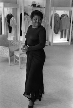 """Actress Esther Rolle trying on a dress the Joseph Magnin store in Beverly Hills in Ms. Rolle was a professional dancer and a founding member of the Negro Ensemble Company before taking on her best known role as Florida Evans on """"Good Times. Black Actresses, Black Actors, Black Celebrities, Celebs, Black Girls Rock, Black Girl Magic, Fred Instagram, Idda Van Munster, Vintage Black Glamour"""