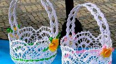 Filiżanka na szydełku / samochodziara.blogspot.com - YouTube Baby Afghan Crochet Patterns, Crochet Flower Patterns, Crochet Designs, Crochet Flowers, Crochet Bowl, Thread Crochet, Crochet Doilies, Crochet Yarn, Crochet Basket Tutorial