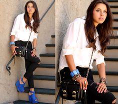Topshop Wedges, J Brand Jeans, Nasty Gal Blouse, Rebecca Minkoff The Bf Bag, Shop Belina.Com Jewelry