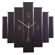 Layered Glass Wall Clock Maple S Clock Wall Mounted Clock Clocks Home Decor