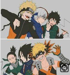 Naruto x Boku kein Held Academia, - My Hero Academia Boku No Hero Academia Funny, My Hero Academia Episodes, My Hero Academia Memes, Hero Academia Characters, My Hero Academia Manga, Naruto Shippuden Anime, Anime Naruto, Anime Guys, Sasuke