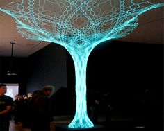 Eco Factor: Interactive tree harnesses solar energy for power. Folks over at Loop.pH have designed a unique interactive solar-powered tree, which was unveiled at the London Design Festival. The structure comes with strands of light-emitting. Tree Lighting, Neon Lighting, Lighting Ideas, Lighting Design, Solar Energy, Solar Power, Renewable Energy, Instalation Art, Interactive Art