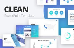 Clean Powerpoint Template by slideforest on @creativemarket