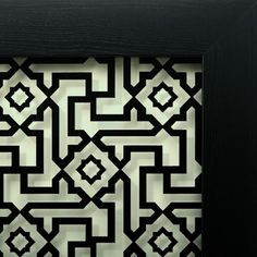 "Alhambra     This contemporary geometric design is inspired by architectural elements decorating the interior of the ""Court of the Lions"" in the famed Alhambra Palace. Built in the 14th century, this palace epitomizes Muslim Spain, a bridge between East and West, and an example of tolerance, where Jews, Christians and Muslims lived together in peace."