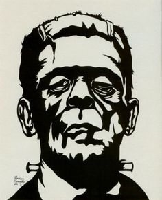 Awesome Frankenstein Horror Art created and for sale by The Moonlight Muse at MoreThanHorror.com