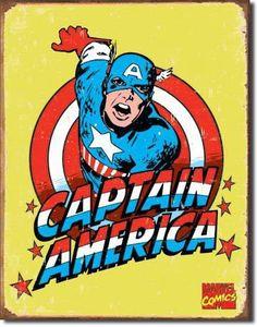 Vintage Captain America Sign