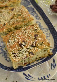 Ελιόπιτα - The Veggie Sisters Pureed Food Recipes, Vegetarian Recipes, Cooking Recipes, Greek Desserts, Greek Recipes, Cyprus Food, Greek Pastries, Greek Cooking, Savoury Baking