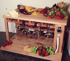 Wine and cheese party for 8 made from upcycled by HabitShmabit, $319.00
