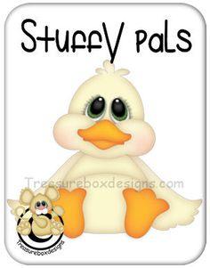 Stuffy Pals Duck  - Treasure Box Designs Patterns & Cutting Files (SVG,WPC,GSD,DXF,AI,JPEG)