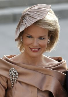 Princess Mathilde of Belgium elegant, lovely color and creative design
