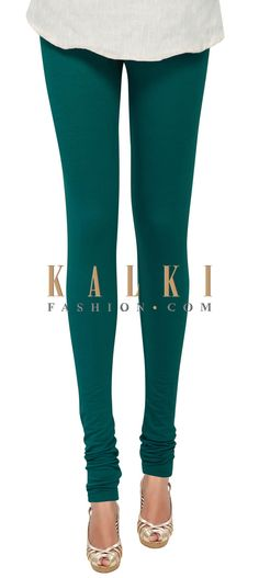 Buy Online from the link below. We ship worldwide (Free Shipping over US$100) Price- $19 Click Anywhere to Tag http://www.kalkifashion.com/teal-cotton-hosiery-legging-only-on-kalki-21399.html