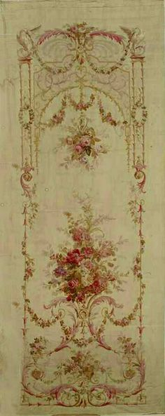 vintage floral wall panel