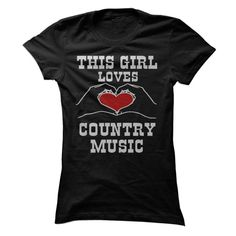 Do you love Country Music? Show it with the This Girl Loves Country Music tee!