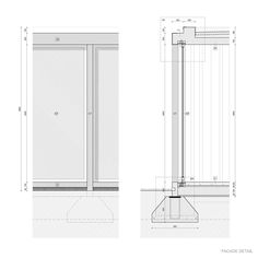 Image 38 of 44 from gallery of House in Palihue / Bernardo Rosello. Wall Section Detail, Bernardo, Detailed Drawings, Architecture Details, Outdoor Spaces, Locker Storage, House, Gallery, Home Decor