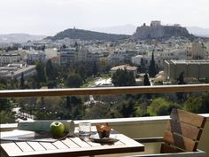 Balcony with Acropolis and city view at Executive Lounge
