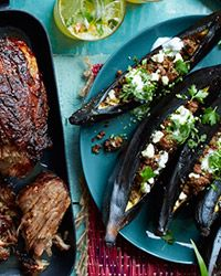 Lamb, Eggplant and Feta Stuffed Plantains #LatinAmerican