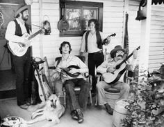 """""""The Back Porch Boys"""" with their best accompaniment, their pup! (1979) 