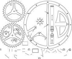 Wooden Gear Clock, Wooden Gears, Grandfather Clock, Knife Block, Woodworking Projects, Honda, Watch, Toy, Wood Clocks