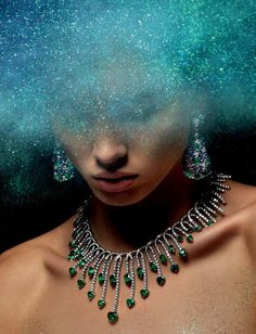 Glitter and jewels - sparkly jewellery editorial
