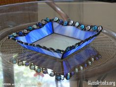 BLUE PLATE tifanny and stained glass mixed #StainedGlassBox