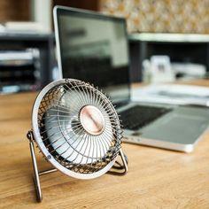 USB Schreibtisch Ventilator in Bronze - geschenkefinden.jetzt