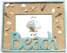 A fun beach-themed 4 x 6 picture frame perfect for vacation memories.