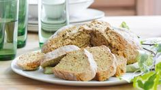 Baking soda, reacting with buttermilk, provides the leavening agent in this quick bread, an Irish staple.