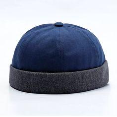e53d7e18 Men Women Couples Adjustable Solid Corduroy Velvet Brimless Hats Retro  Vogue Crimping Bucket Cap Cheap -