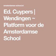 Ed. Cuypers   Wendingen ~ Platform voor de Amsterdamse School