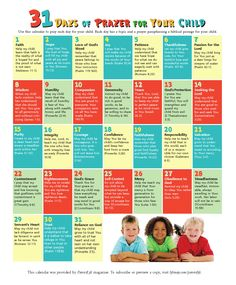 31 Days of Prayer for Your Child