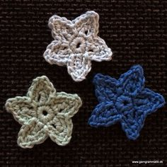 Hæklet flad stjerne - Garn Grammatik