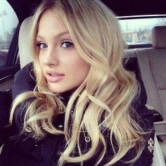 Lovely blonde hair.