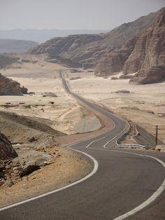 LIKE Progressive Truck Driving School: www.facebook.com/... #trucking #truck #driver  Long desert road to Petra