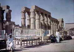 Market Stalls Outside An Egyptian Ruin, 1913
