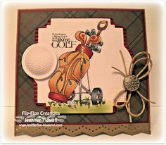 Just Inklined Digital Stamping Blog: Golf Trolley
